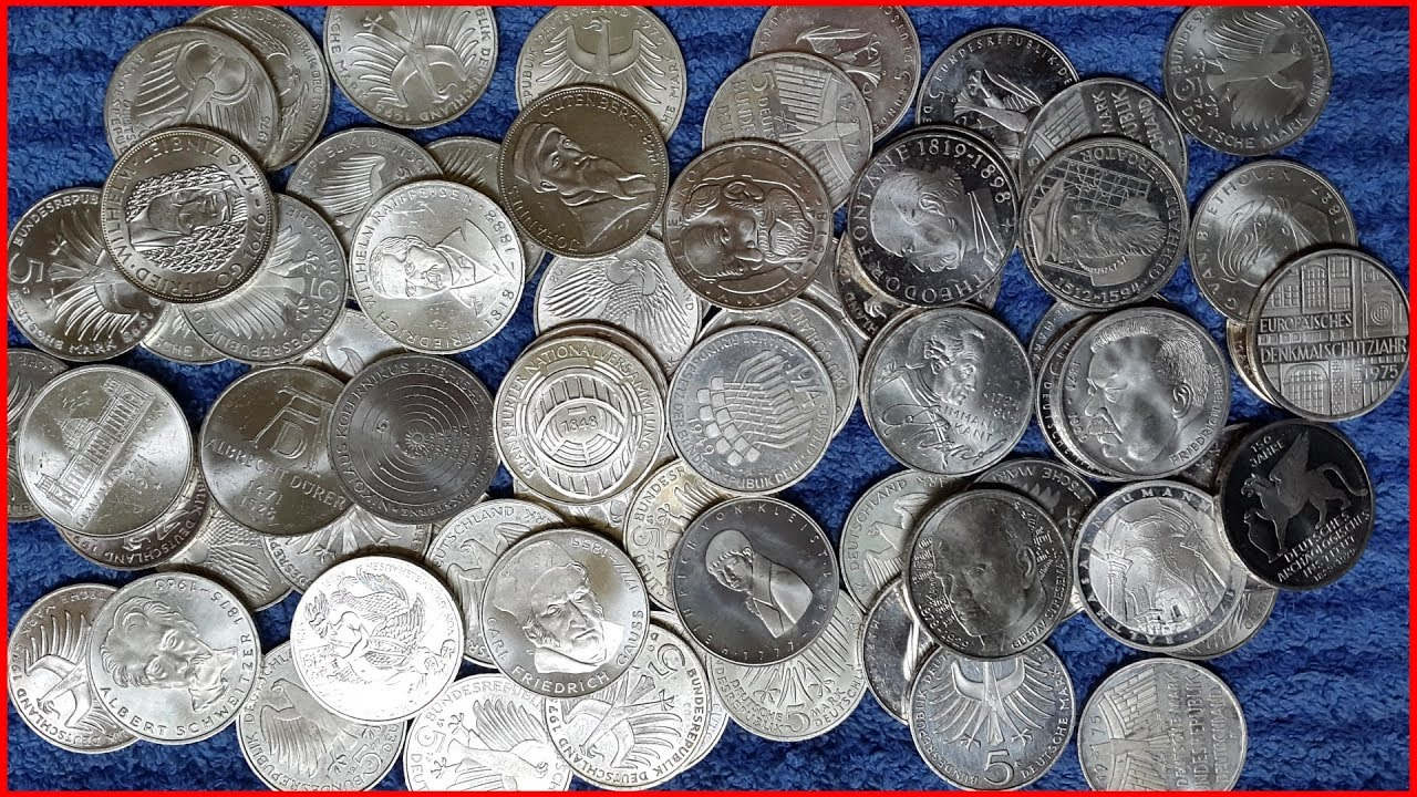 German 5 Mark Commemorative Silver Coins Youtube