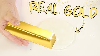 PUTTING ACTUAL REAL GOLD IN SLIME! Slimeatory #453