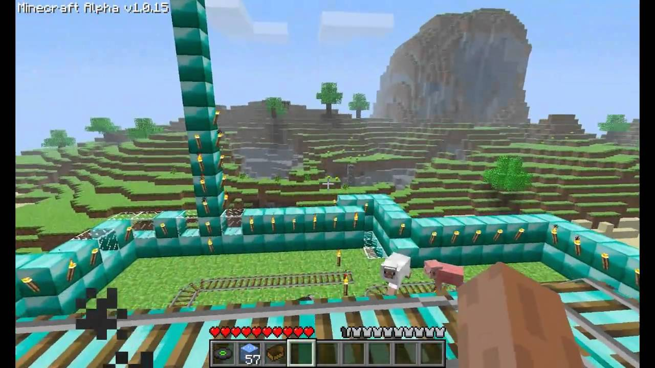 minecraft diamond house [hd] - youtube