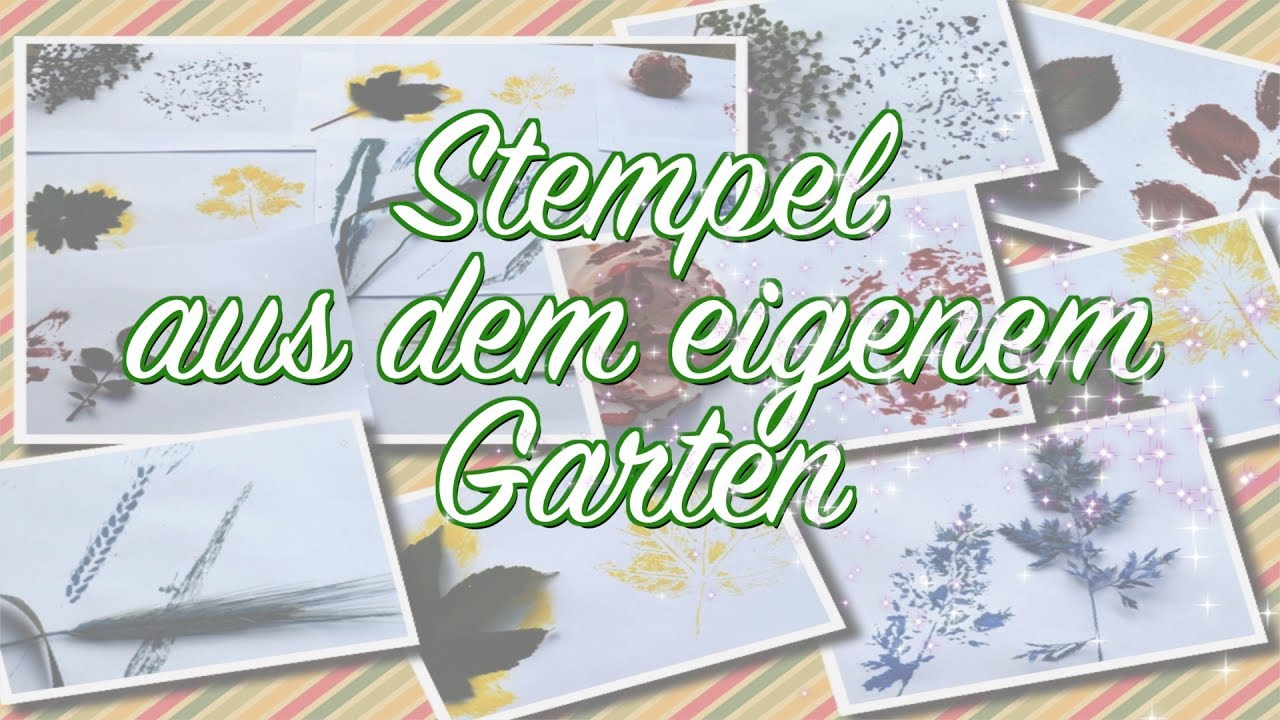 stempel aus dem eigenem garten diy stempel aus. Black Bedroom Furniture Sets. Home Design Ideas