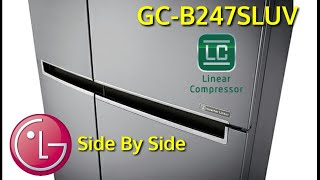 Review LG GC-B247SLUV SBS Refrigerator inverter Linear New 2017 indonesia | HD