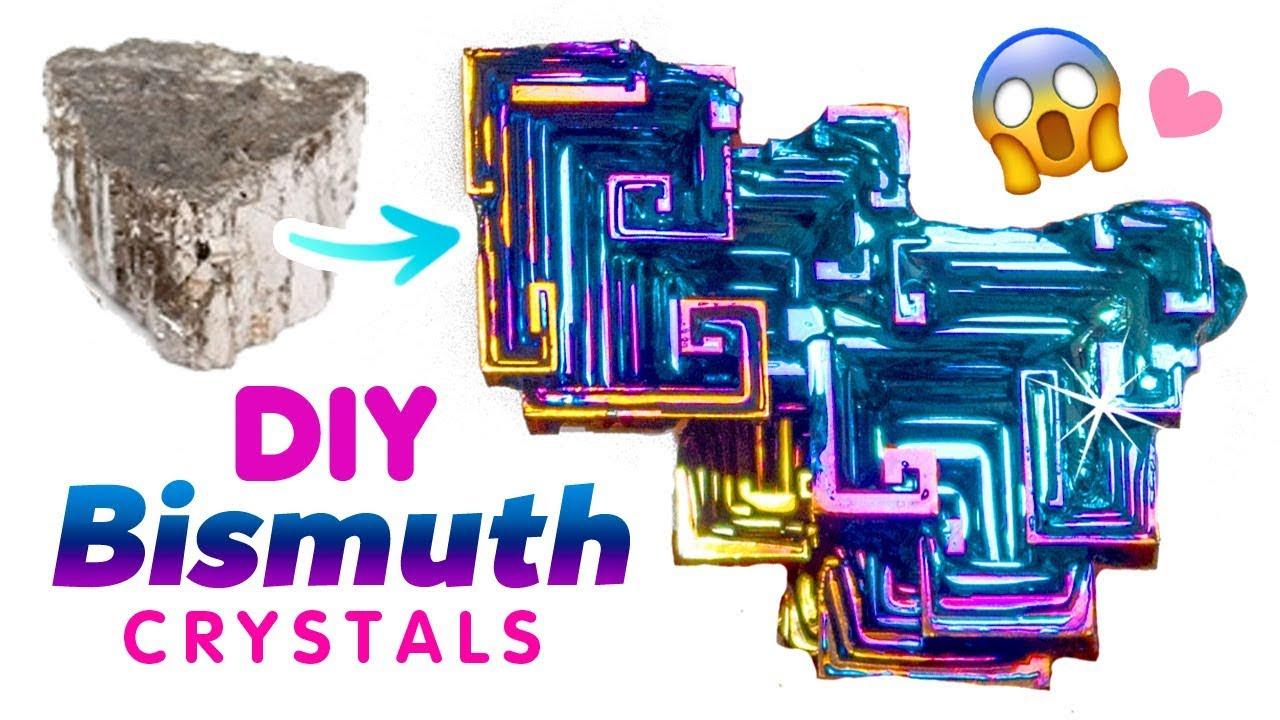 DIY RAINBOW BISMUTH CRYSTALS Make Oil Spill Crystals