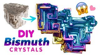 "DIY RAINBOW BISMUTH CRYSTALS!! Make ""Oil-Spill"" Crystals in Your Kitchen!"