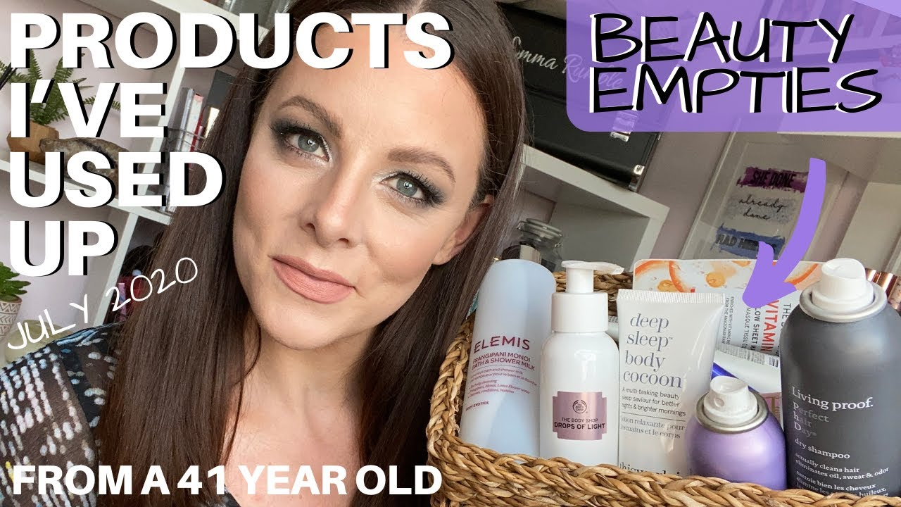 PRODUCT EMPTIES | Beauty Products I've used up | UK Faves for 40 plus | JULY 2020, Elemis, BeautyBio
