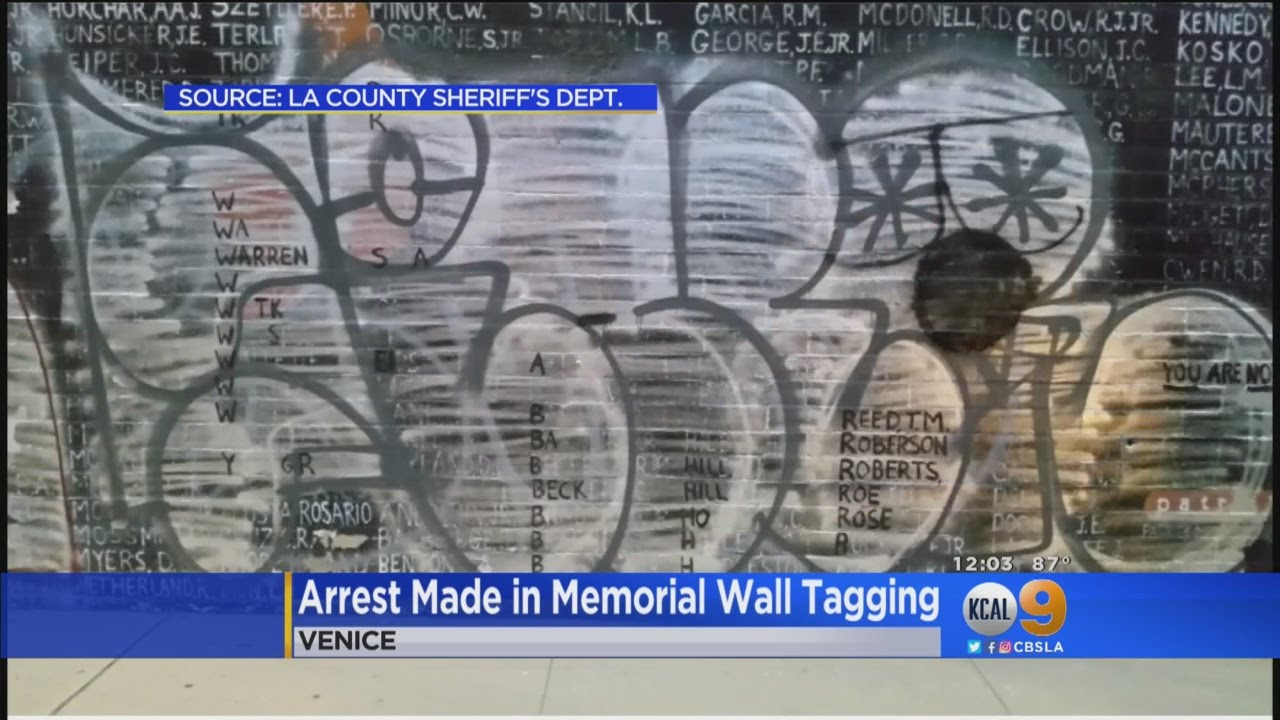 Arrest Made In Tagging Of Venice Vietnam Memorial Wall Youtube