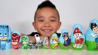 PJ Masks PAW Patrol Funny Surprise Egg Nesting Dolls Opening Ckn Toys