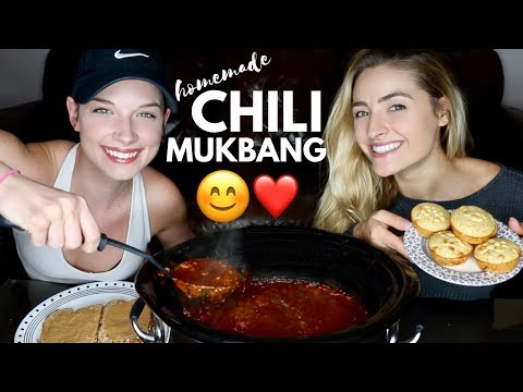 HOMEMADE CHILI RECIPE & MUKBANG