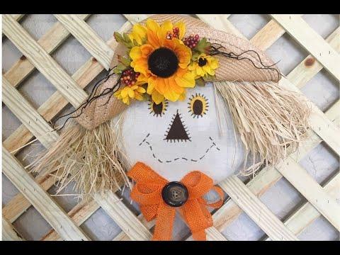Scarecrow Wreath Super Easy!