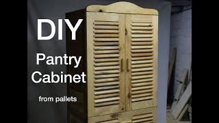 DIY//Paletten Kiler Dolabı Yapımı//Pantry Cabinet from Pallets