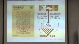 1.系統推定論概論:系統樹による多様性情報の可視化 (三中 信宏 先生)