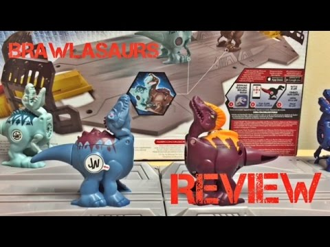 Hasbro Jurassic World Brawlasaurs Spinoraptor and Corythosaurus Reviews