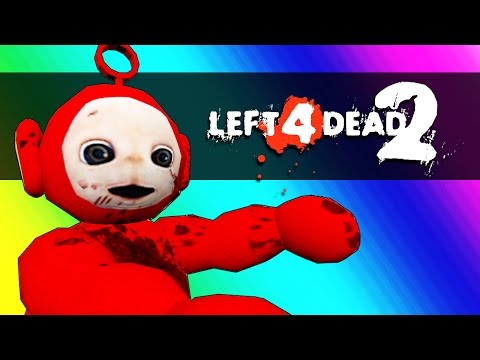 Left 4 Dead 2 - Dinosaurs vs. Teletubbies! (Mods Funny Moments)
