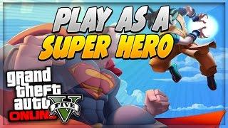 """GTA 5 ONLINE 1.15 - """"SUPER HERO MOD"""" - """"AFTER PATCH 1.15"""" (GTA V 1.15)"""