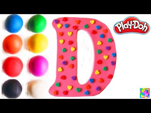 The Letter D  Learning ABC with play doh  Learn Colors & alphabet  ABC song & Nursery Rhymes  Funny