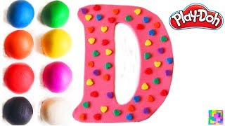 The Letter D. Learning ABC with play doh. Learn Colors & alphabet. ...