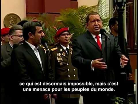 """Chavez et Ahmadinejad : """"Nous préparons une bombe atomique !""""."""