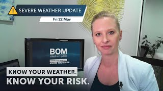 Severe Weather Update: Deep Low Pressure System To Impact Western Australia, 22 May 2020