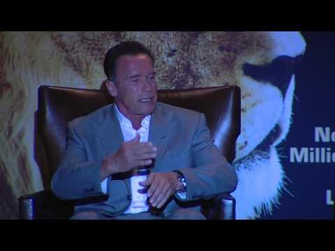 Arnold Schwarzenegger with JT Foxx Interview at Mega Partnering