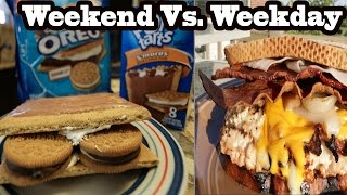 iifym full day of eating weekend vs weekday