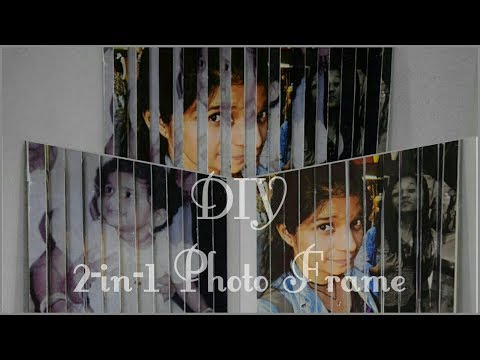 2-in-1 Photo Frame | DIY | 3-D Optical Illusion| DIY Photo Frame | Mags Inspire