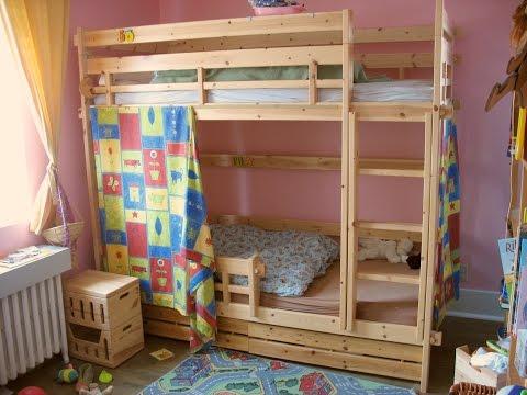Dazzling Cream Bunk Bed Design Ideas