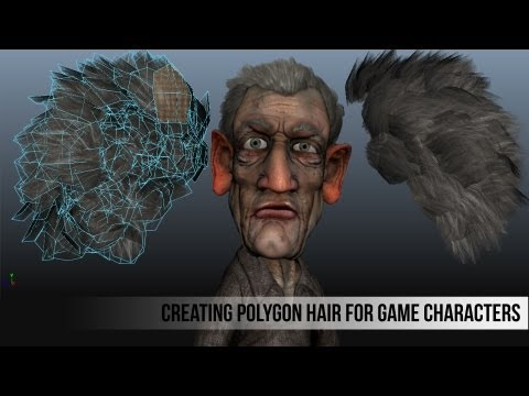 Creating Polygon Hair for Game Characters