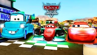 Disney Pixar Cars 2 Racing Starter Game Set Neon Lightning McQueen Vs. Francesco Bernoulli