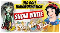 SNOW WHITE   CUSTOM DISNEY PRINCESS DOLL MONSTER HIGH REPAINT by Poppen Atelier