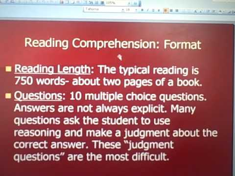 ACT Reading Comprehension- Part One