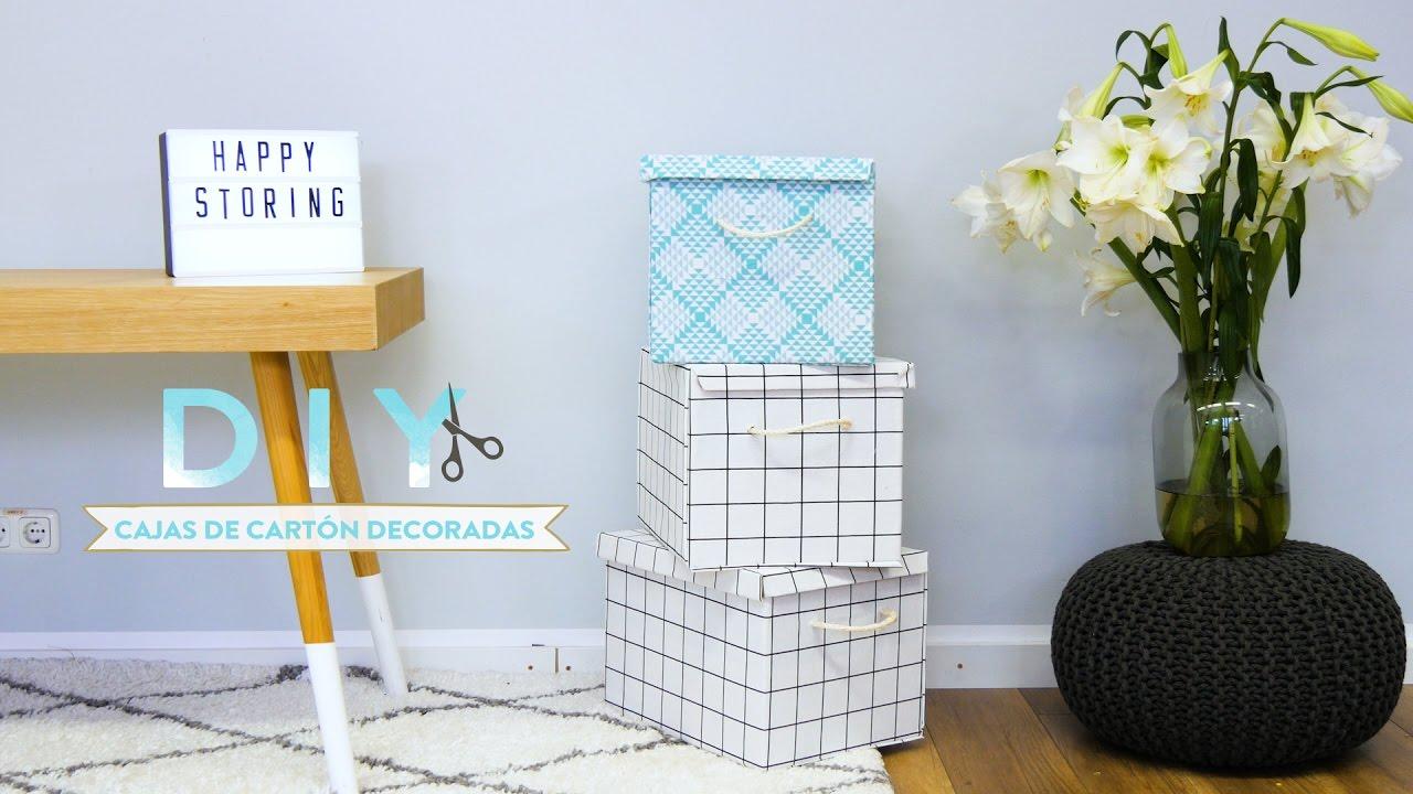 Idea para forrar las cajas de cart n con tela diy - Forrar cajas de carton con telas ...