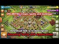 Unlimited buildings and troops of CLASH OF CLANS. Clash of magic apk download and uses.