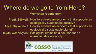 Dialogue for a Sustainable Economy Workshop Reports