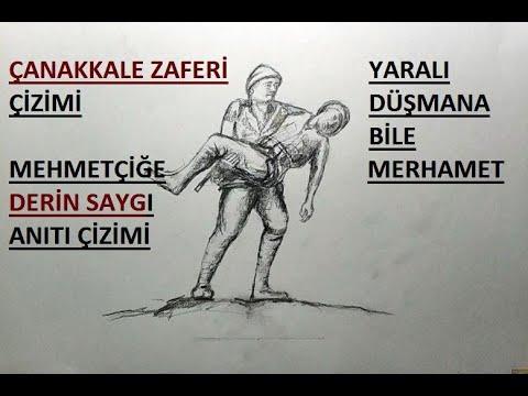 18 Mart Canakkale Savasi Cizimi Mehmetcige Derin Saygi Aniti