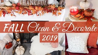 CLEAN AND DECORATE WITH ME 2019 \\ FALL HOUSE TOUR \\ FALL DECORATING IDEAS