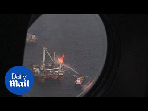 Aerials of BP Deepwater Horizon BP Gulf oil spill from 2010 - Daily Mail