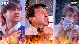 Best Fight Scenes From Blockbuster Action Movies | Ajay Devgan, Sunny Deol & Sanjay Dutt