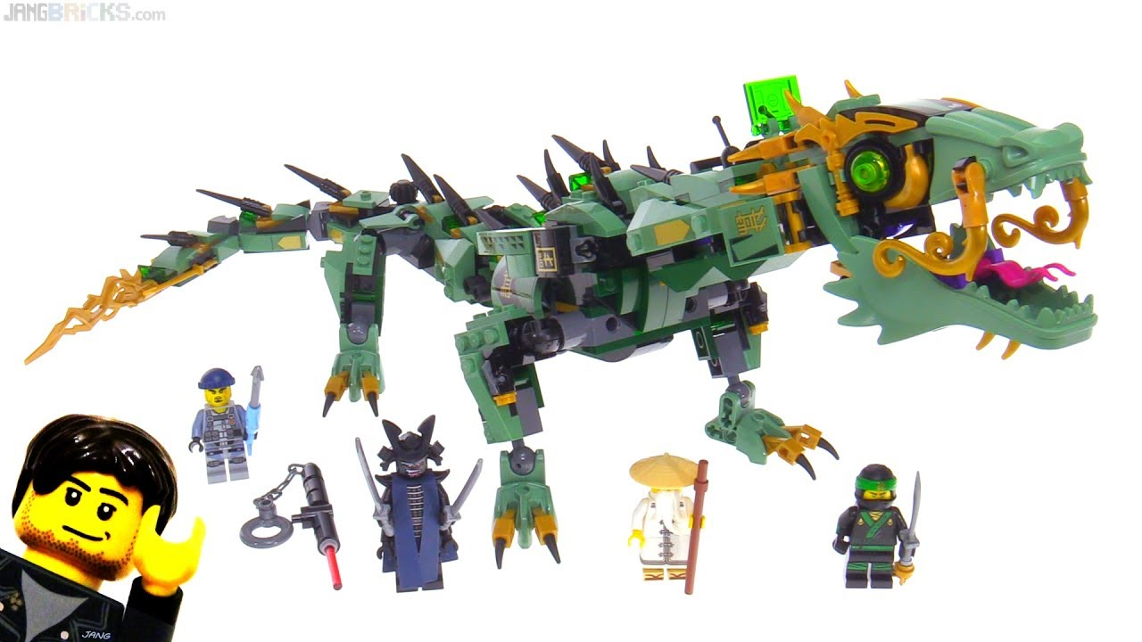 lego ninjago movie green ninja mech dragon review 70612