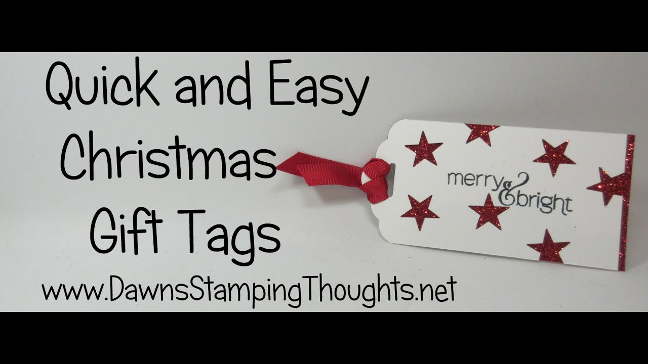 Quick & Easy Christmas Gift Tags with Stampin\'Up! Products - YouTube