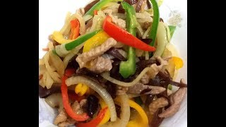 【20無限】:  三色椒洋蔥炒肉絲 (好睇又好食) Stir-fried Pork with lantern peppers