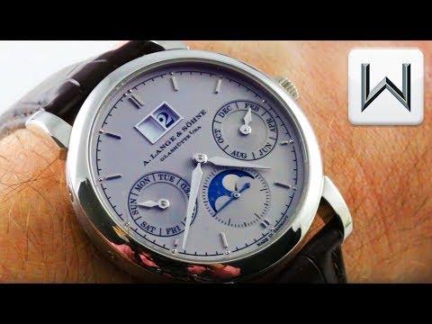 A. Lange \u0026 Sohne Saxonia Annual Calender Platinum (330.025) Luxury Watch Review