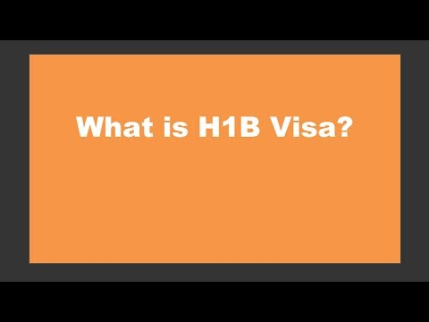 what is h1b visa work visa for usa
