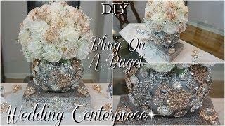 DIY   GLAM WEDDING CENTERPIECE   DIY WEDDING DECORATIONS   DIY TUTORIAL