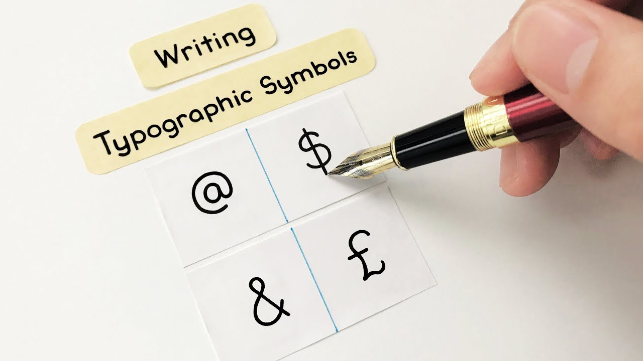 Writing Typographic Symbols