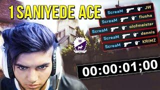 1 Saniyede Ace! Profesyonel Oyuncuların Yaptığı EN HIZLI ACE'LER!
