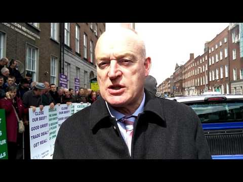 ICSA protest in Dublin against proposed trade deals