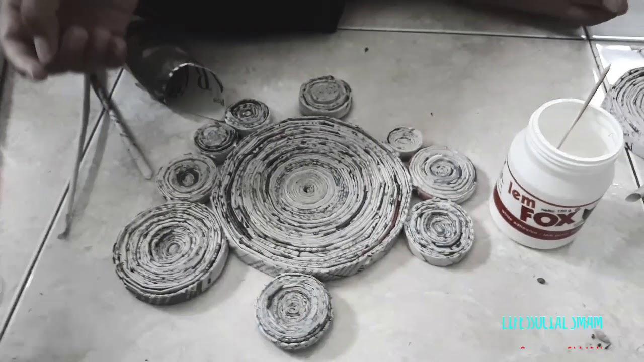 Membuat Jam Dinding Dari Kertas Koran Smammiv 11iis3project Youtube