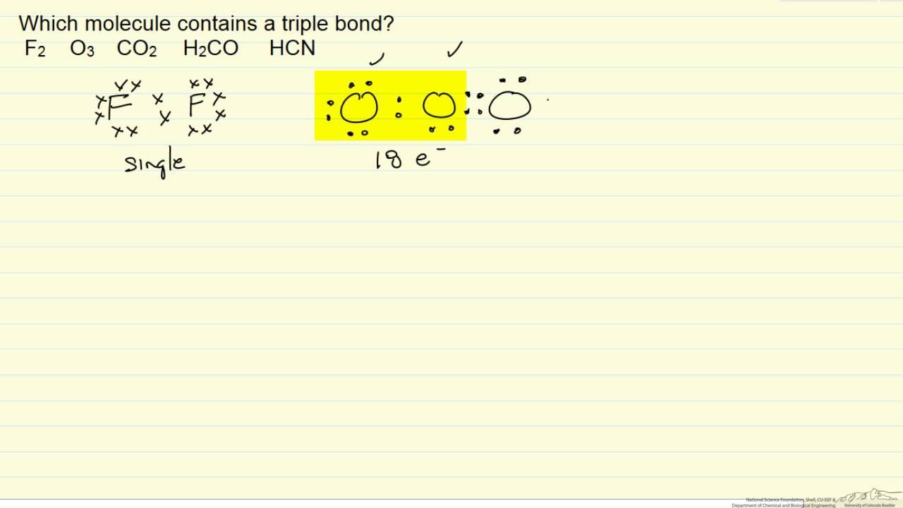 lewis structure triple bond example  [ 1280 x 720 Pixel ]