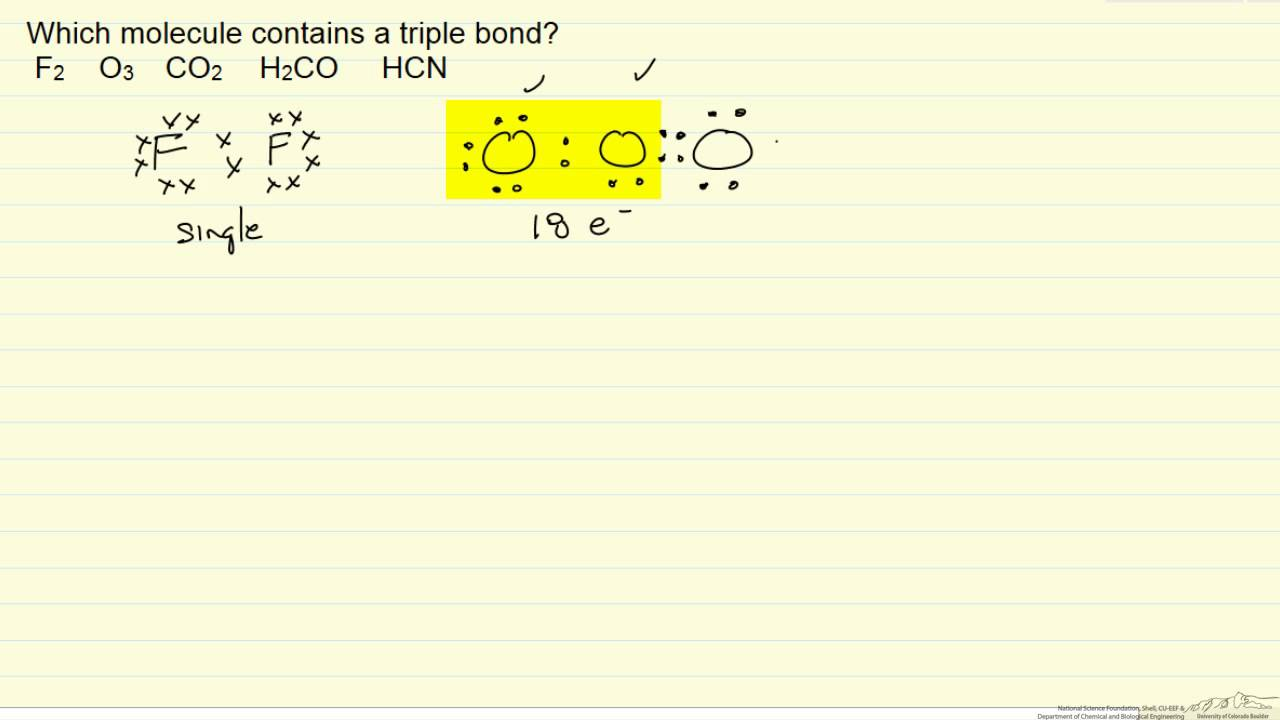 medium resolution of lewis structure triple bond example