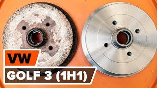 Como e quando mudar Tambor de freio traseiro e dianteiro VW GOLF III (1H1): vídeo tutorial