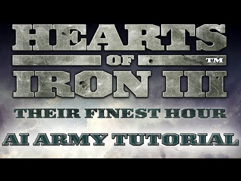 Hearts of Iron 3 - AI Army Control Introduction |